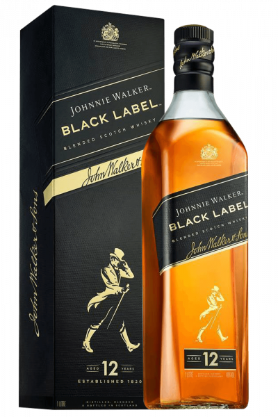 Johnnie Walker Black Label Blended Scotch Whisky Aged 12 Years 70cl (Astucciato)