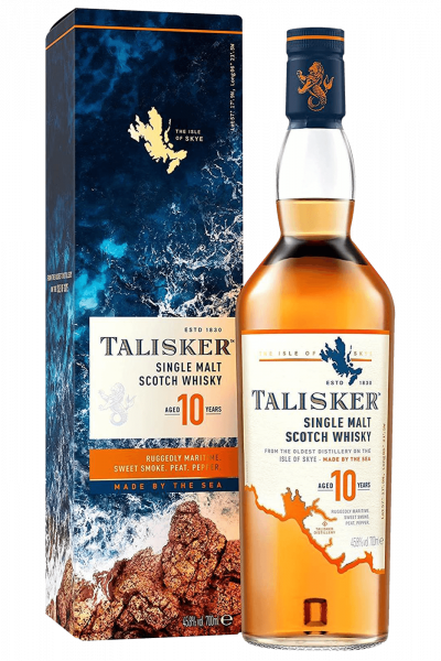 Talisker 10 Years Single Malt Scotch Whisky 70cl (Astucciato)