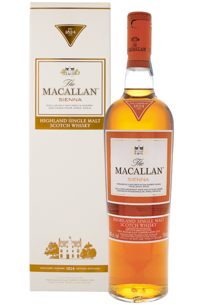The Macallan Sienna Highland Single Malt Scotch Whisky 1824 Series 70cl  (Astucciato)