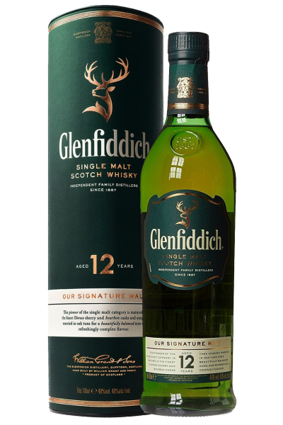 Glenfiddich Single Malt Scotch Whisky 12 Anni 70cl (Astucciato)