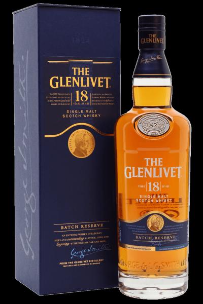 The Glenlivet Single Malt Scotch Whisky 18 Anni 70cl