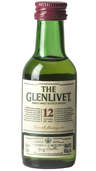 Single Malt Scotch Whisky 12 Anni The Glenlivet 5cl