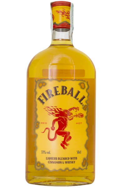 Fireball Liqueur Blended With Cinnamon And Whisky 50cl
