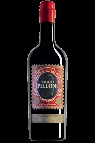 Mirto Pilloni Silvio Carta 70cl  + Bicchiere e sottobicchiere
