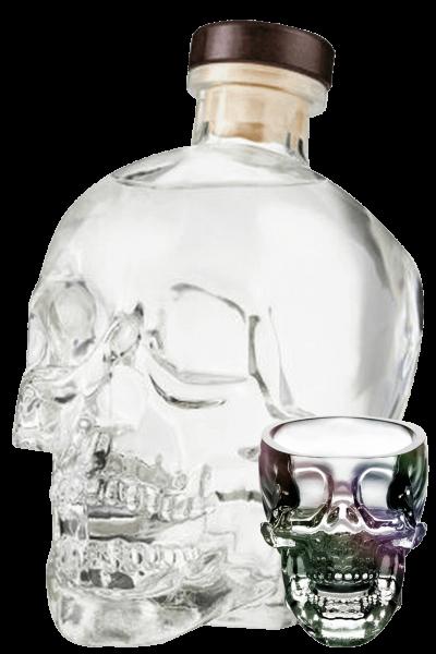 Vodka Crystal Head 70cl (Astucciato) + 4 bicchierini