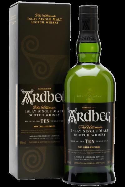 Ardbeg Ten Islay Single Malt Scotch Whisky 70cl (Astucciato)