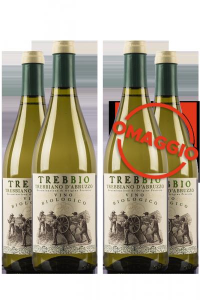 6 Bottiglie Trebbiano D'Abruzzo DOP Trebbio 2019 Rupicapra + 6 OMAGGIO