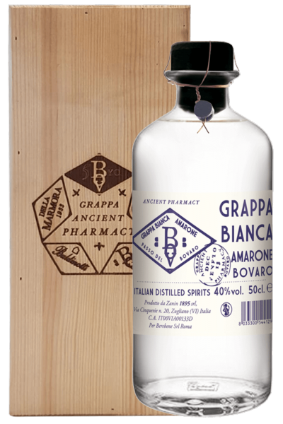 Grappa Bianca Amarone Passo Del Bovaro Ancient Pharmacy 50cl (Cassetta in Legno)