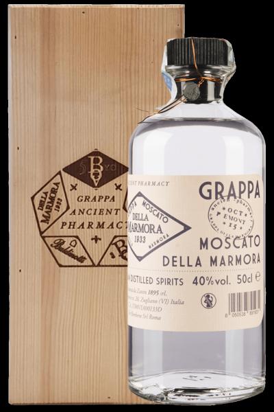 Grappa Moscato Della Marmora Ancient Pharmacy 50cl (Cassetta in Legno)