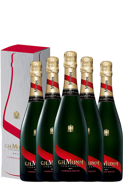 6 Bottiglie Champagne Mumm Cordon Rouge Cuvée Privilege Brut 75cl (Astucciato)