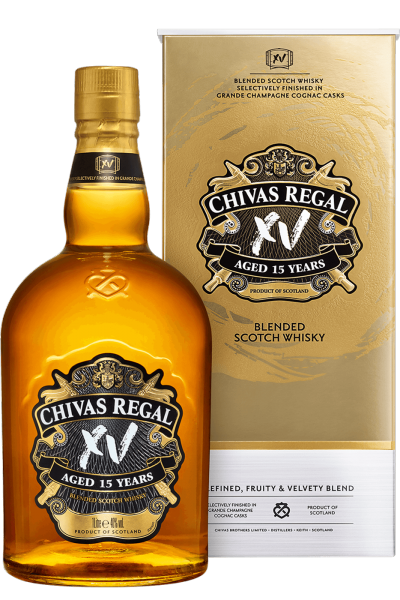 Chivas XV 70cl (Astucciato) + 2 Bicchierini