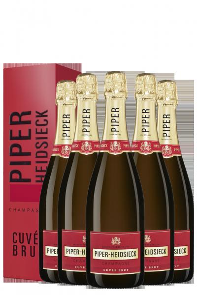 6 Bottiglie Champagne Piper-Heidsieck Cuvèe Brut 75cl (Astucciato)