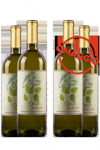 6 Bottiglie Sicilia DOC Grillo Ortico 2019 Martòn + 6 OMAGGIO
