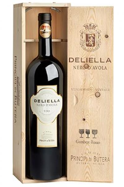 Sicilia Nero D'Avola DOC Deliella 2015 Principi Di Butera  (Magnum in Cassetta di Legno)