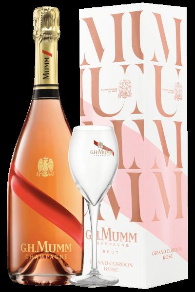 Champagne Grand Cordon Rosé Brut Mumm 75cl + 2 Calici Mumm