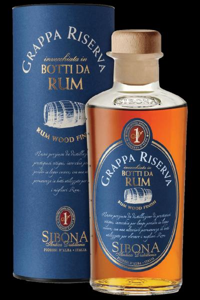 Grappa Riserva Botti Da Rum Sibona 50cl (Astucciato)