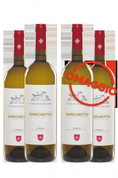 6 Bottiglie Grechetto 2019 Castello Di Magione + 6 OMAGGIO