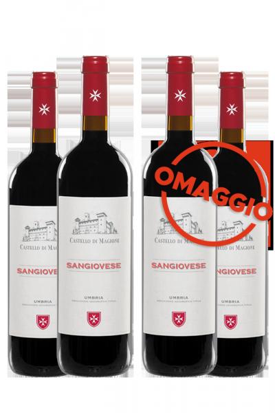 6 Bottiglie Sangiovese 2019 Castello Di Magione + 6 OMAGGIO