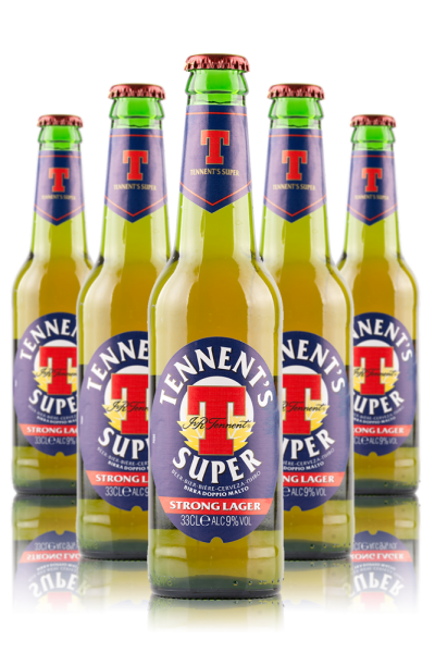 Tennent's Super Cassa da 24 bottiglie x 33cl