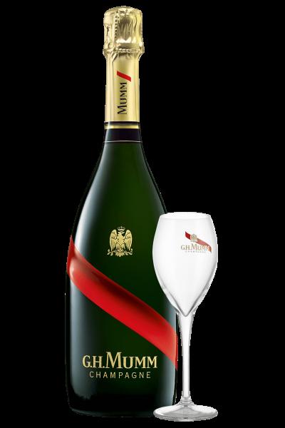 Champagne Grand Cordon Brut Mumm (Magnum) + 2 Calici Mumm