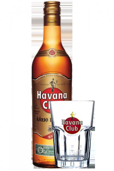 Rum Havana Club Especial 1Litro + 1 Bicchiere Havana Granity OMAGGIO