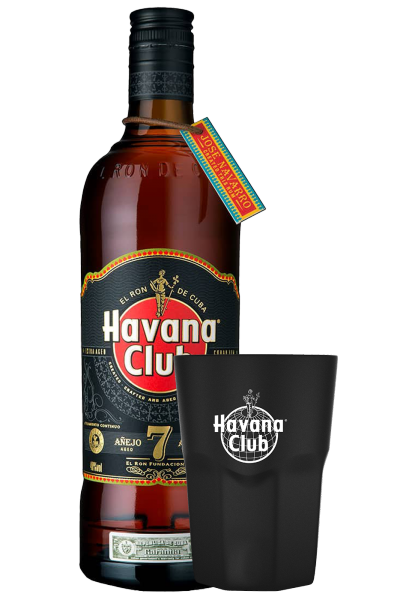 Rum Havana Club 7 Anni 70cl + 2 Bicchieri Luce OMAGGIO