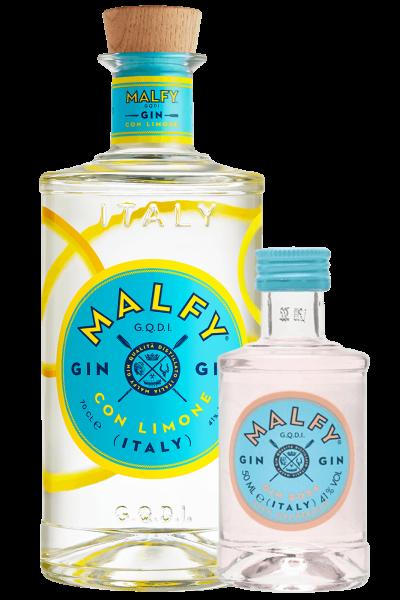 Gin Malfy Limone 70cl + 1 Mignon Malfy Rosa 5cl OMAGGIO