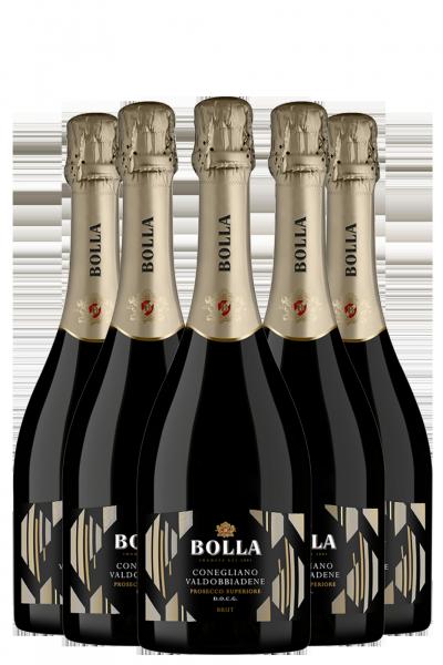 6 Bottiglie Prosecco Conegliano Valdobbiadene Brut DOCG Bolla