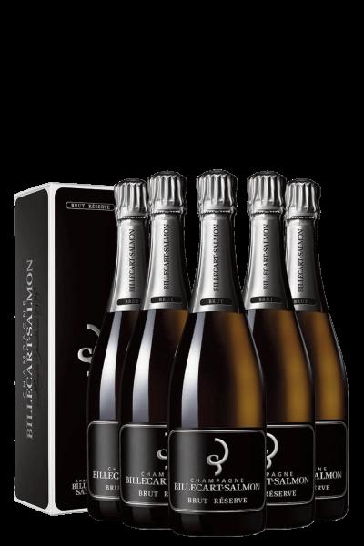 6 Bottiglie Brut Réserve Billecart-Salmon 75cl (Astucciato)