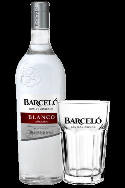 Ron Barceló Blanco 1Litro + 2 Bicchieri Barceló OMAGGIO