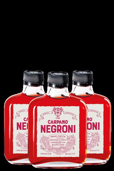 3 Bottiglie Carpano Negroni Ready To Drink 10cl