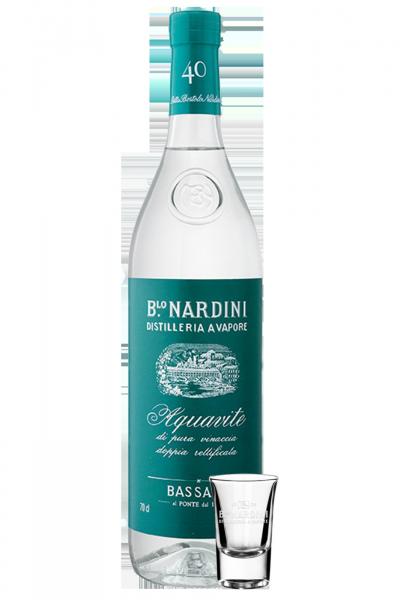 Acquavite Di Vinaccia Bianca Nardini 1Litro + 2 bicchierini