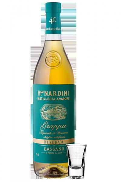 Acquavite Di Vinaccia Riserva Nardini 1Litro + 2 bicchierini