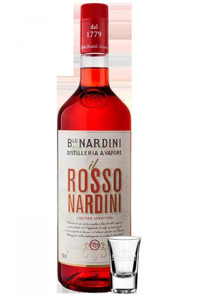 Aperitivo Rosso Nardini 1Litro + 1 Bicchierino