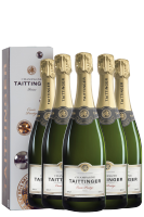 6 Bottiglie Cuvée Prestige Brut Taittinger 75cl (Astucciato)