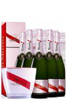 6 Bottiglie Cordon Rouge Le Rosé Brut Mumm 75cl (Astucciato) + 1 Glacette OMAGGIO