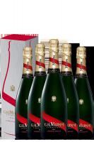 6 Bottiglie Champagne Mumm Cordon Rouge Brut 75cl (Astucciato)