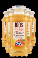 Yoga 100% Frutta Pesca Con Uva Confezione Da 12 Bottiglie + 6 Bicchieri Yoga