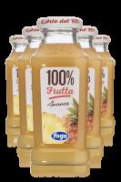 Yoga 100% Frutta Ananas Confezione Da 12 Bottiglie + 6 Bicchieri Yoga