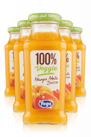 Yoga 100% Veggie Mango Mela Zucca Confezione Da 12 Bottiglie + 6 Bicchieri Yoga