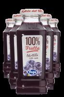 Yoga 100% Frutta Mirtillo Con Uva Confezione Da 12 Bottiglie + 6 Bicchieri Yoga
