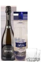 1 Prosecco DOC Aspide Extra Dry + 1 Sifone Soda Perla 150cl + 2 Bicchieri Aperitivo