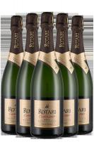 6 Bottiglie Trento DOC Brut Metodo Classico Cuvée 28+ Rotari
