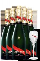 6 Bottiglie Champagne Mumm Cordon Rouge Brut + 6 Bicchieri