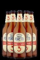 Poretti 3 Luppoli Non Filtrata Cassa da 15 bottiglie x 66cl