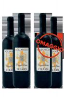 6 Bottiglie Aglianico Roccamonfina Ciesco Rosso 2019 Telaro + 6 OMAGGIO