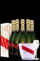 6 Bottiglie Champagne Grand Cordon Brut Mumm 75cl (Astucciato) + 1 Glacette Mumm