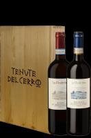1 Rosso Di Montalcino DOC 2018 + 1 Brunello DOCG 2015 La Poderina Tenute Del Cerro (In Cassetta)