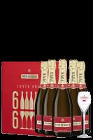 6 Bottiglie Champagne Piper-Heidsieck Cuvèe Brut 75cl + 6 Bicchieri