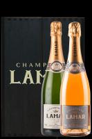 Champagne Louis Lamar Brut + Louis Lamar Rosé (Scrigno in Legno)